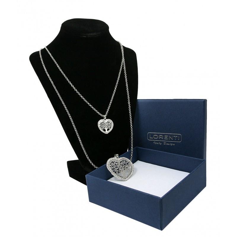 Dámský náhrdelník Srdce stromu života, stříbrný