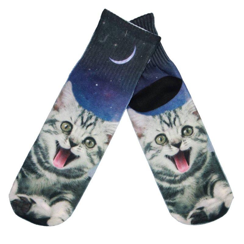 Dámské ponožky Mourovatá kočka 35-38, modré