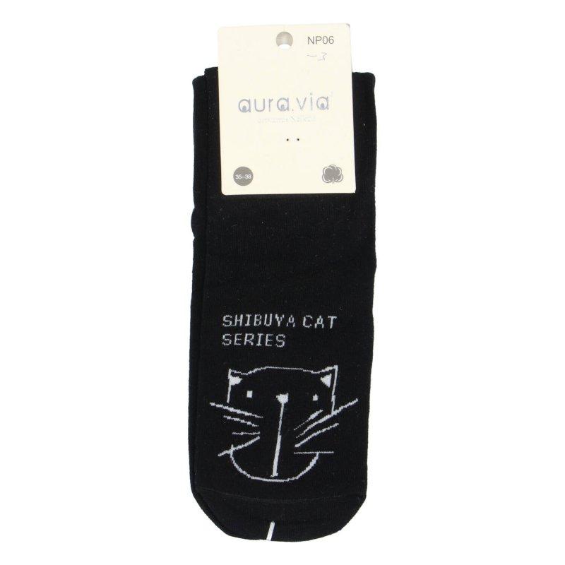 Dámské ponožky Funny cat 35-38, černé