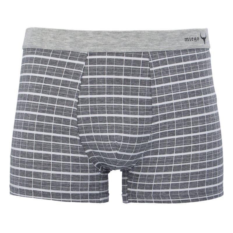 Pánské bavlněné trenýrky, šedé, velikost XL