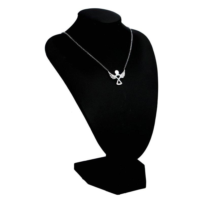 Dámský náhrdelník z chirurgické oceli Little angel, stříbrný