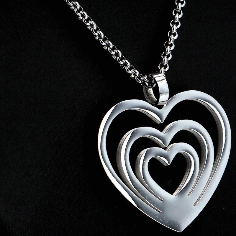 Dámský náhrdelník z chirurgické oceli Sweethearts, stříbrný
