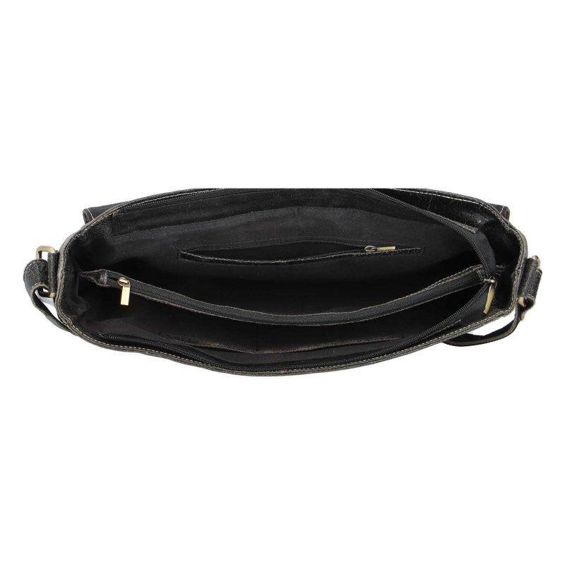 Pánská kožená pracovní taška s přezkami Cosmas, černá