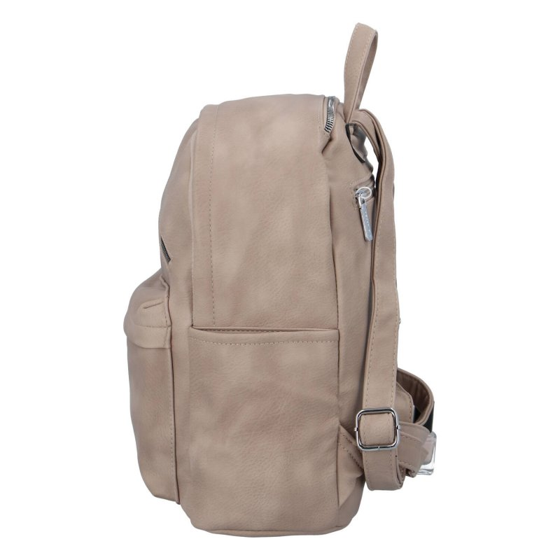 Dámský koženkový batoh Ema, zemitá