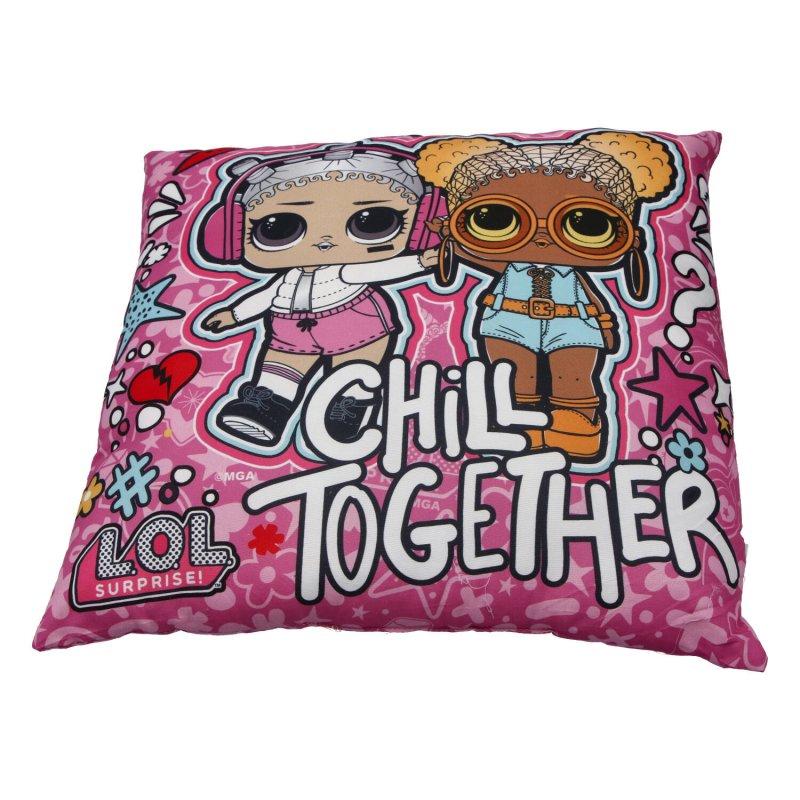 Dětský polštářek LOL Hey girls, růžový