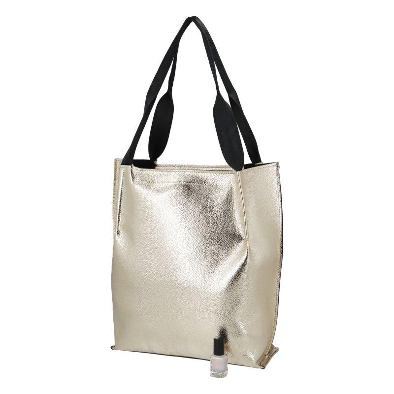 Dámská koženková kabelka LB golden lady, zlatá