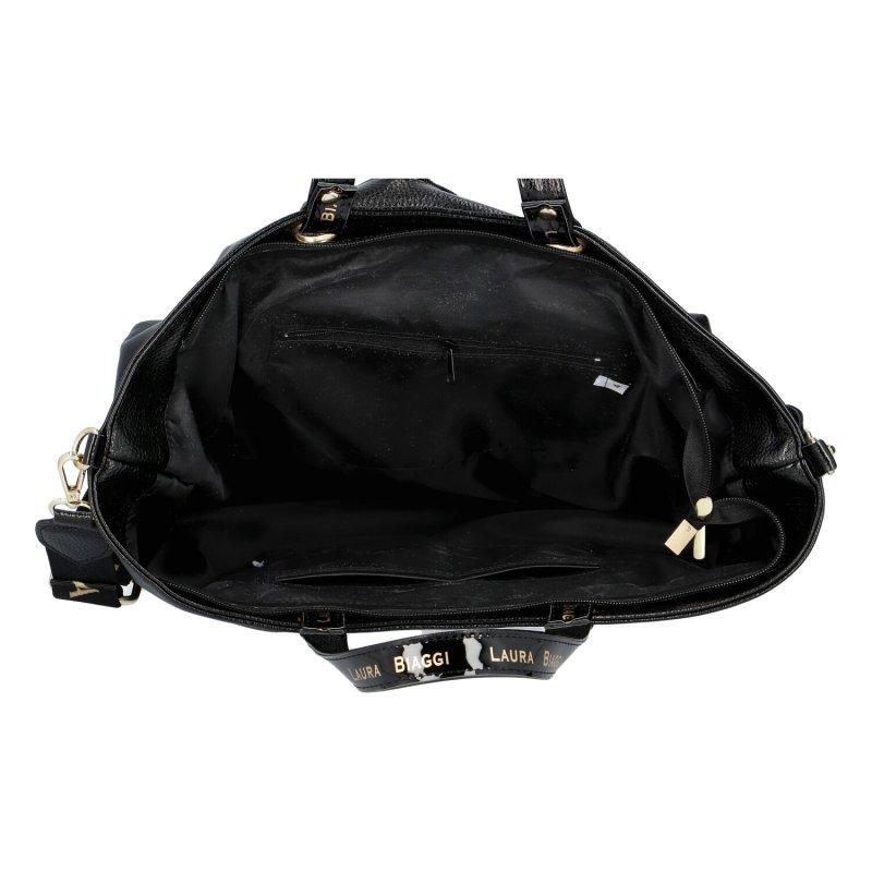 Dámská koženková kabelka LB Moderno, černá