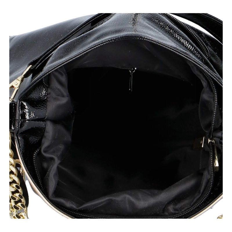 Dámská koženková kabelka LB Glamour, zlato černá