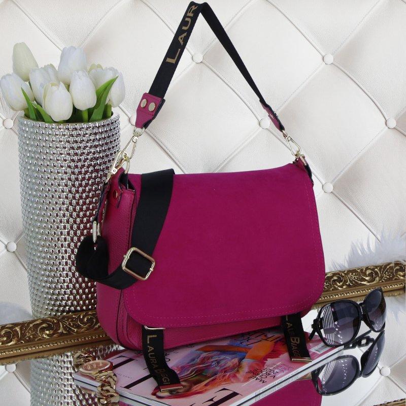 Dámská trendová kabelka LB Fuchsia lady, fuchsiová