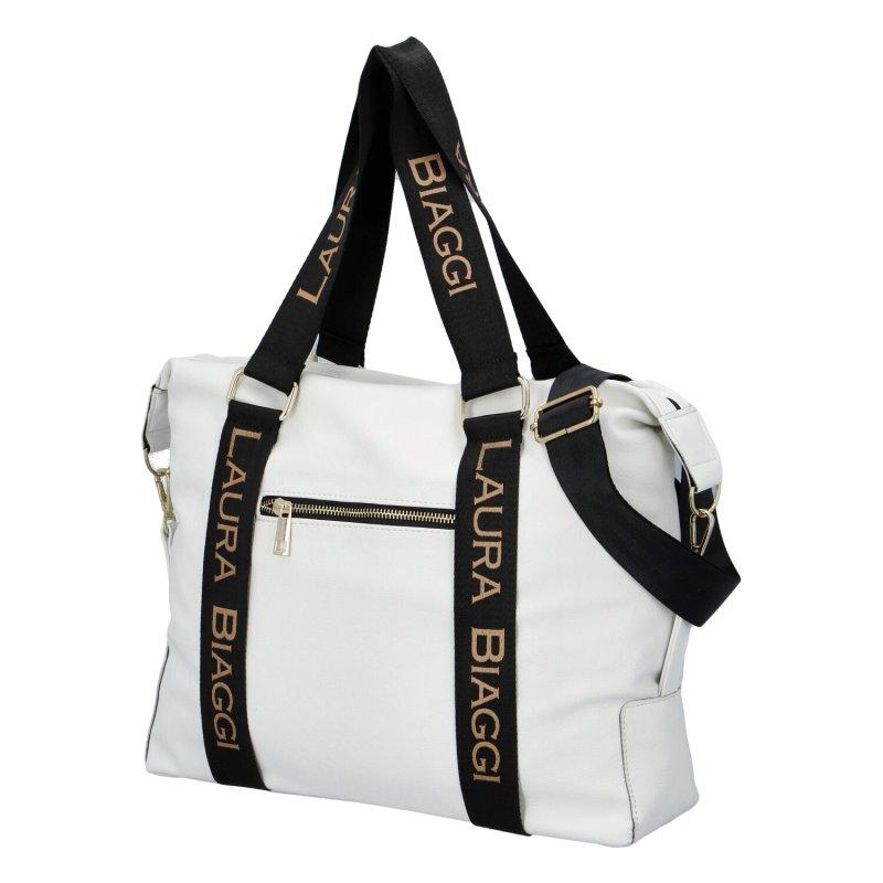 Dámská koženková kabelka LB Sportish Mia, bílá