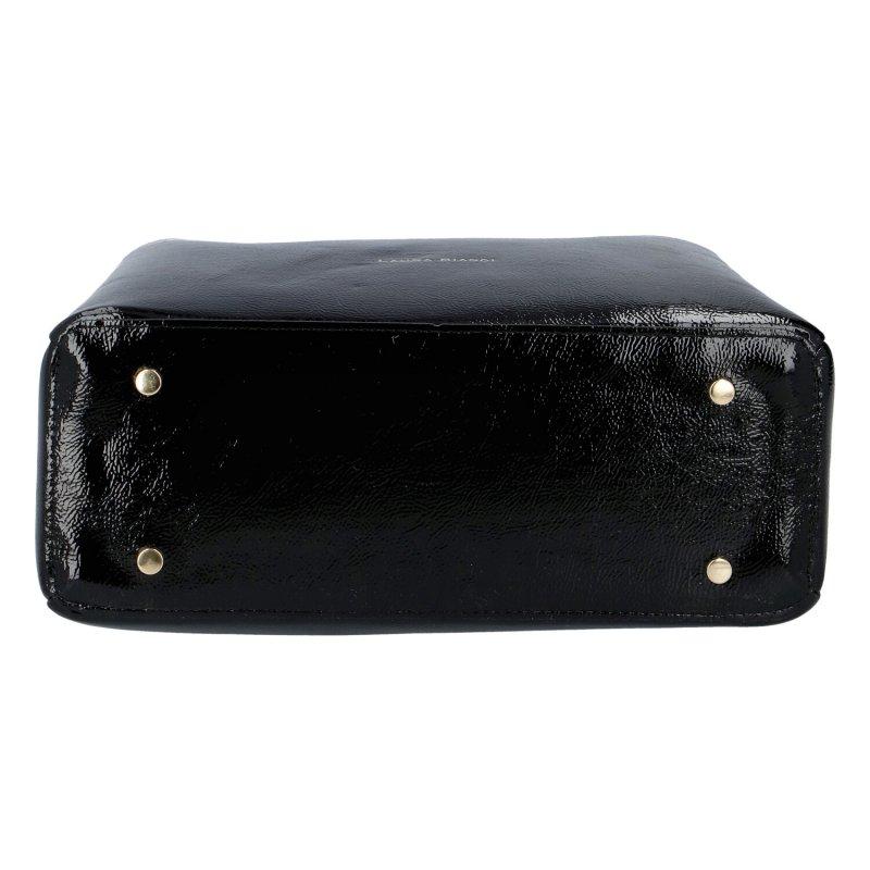 Dámská koženková kabelka LB Luxury, černá