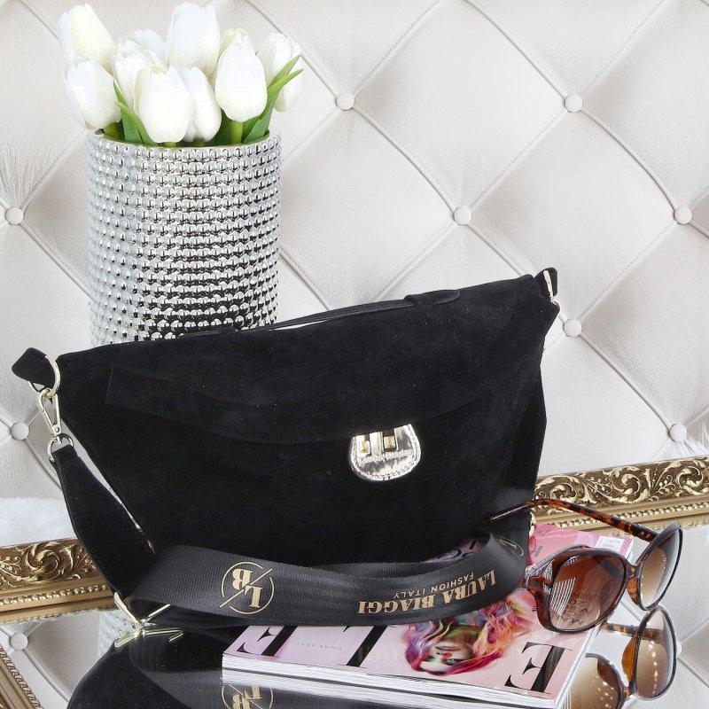 Dámská stylová kabelka ledvinka LB Ive, černá