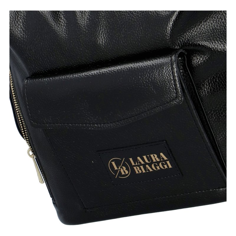 Dámský koženkový kabelko batoh LB Lovely dream, černý