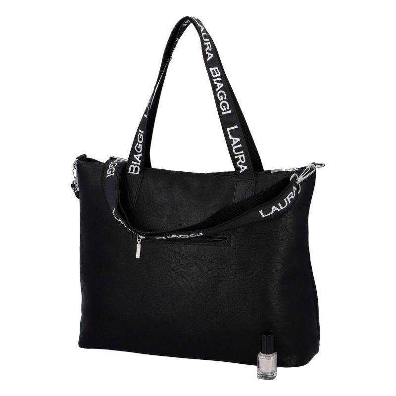 Dámská koženková kabelka Laura Champs Elysees, černá