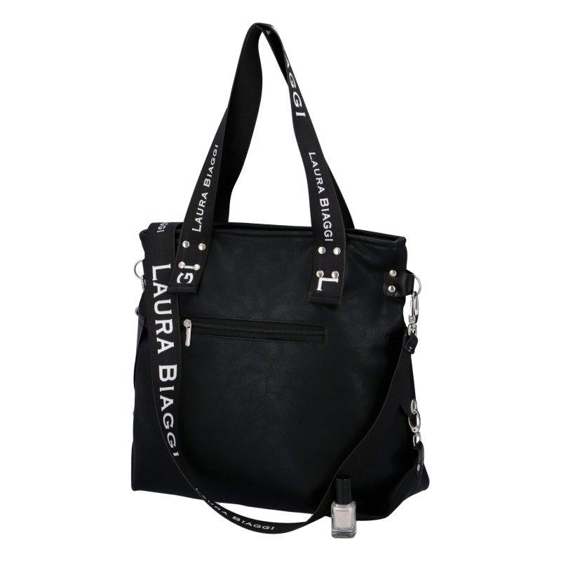 Dámská koženková kabelka LB Starish queen LB, černá