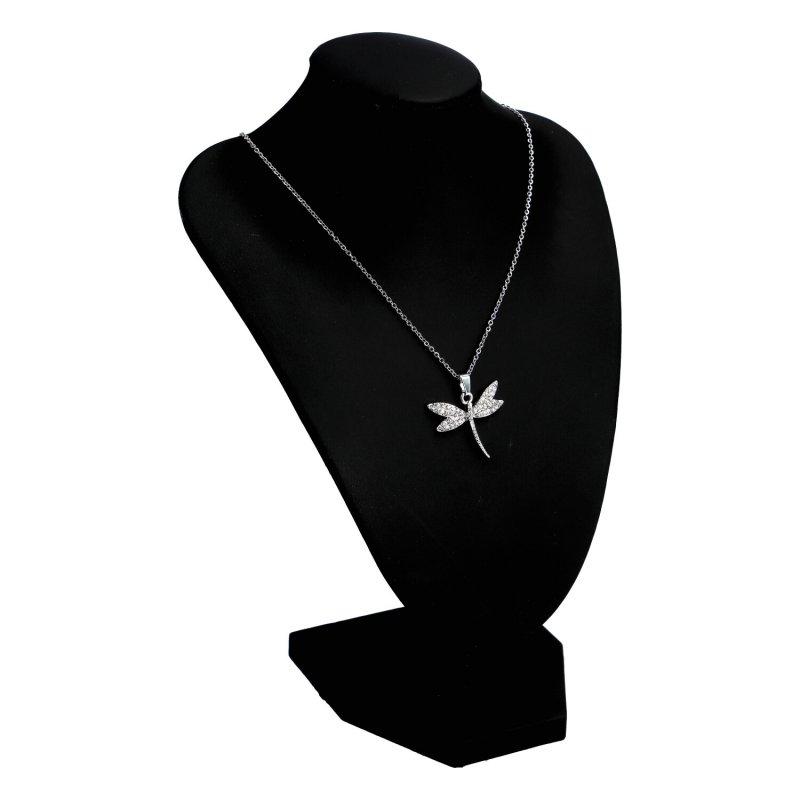 Dámský náhrdelník Vážka, stříbrný