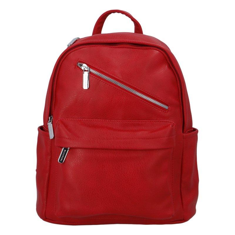 Dámský koženkový batoh Ema, červený