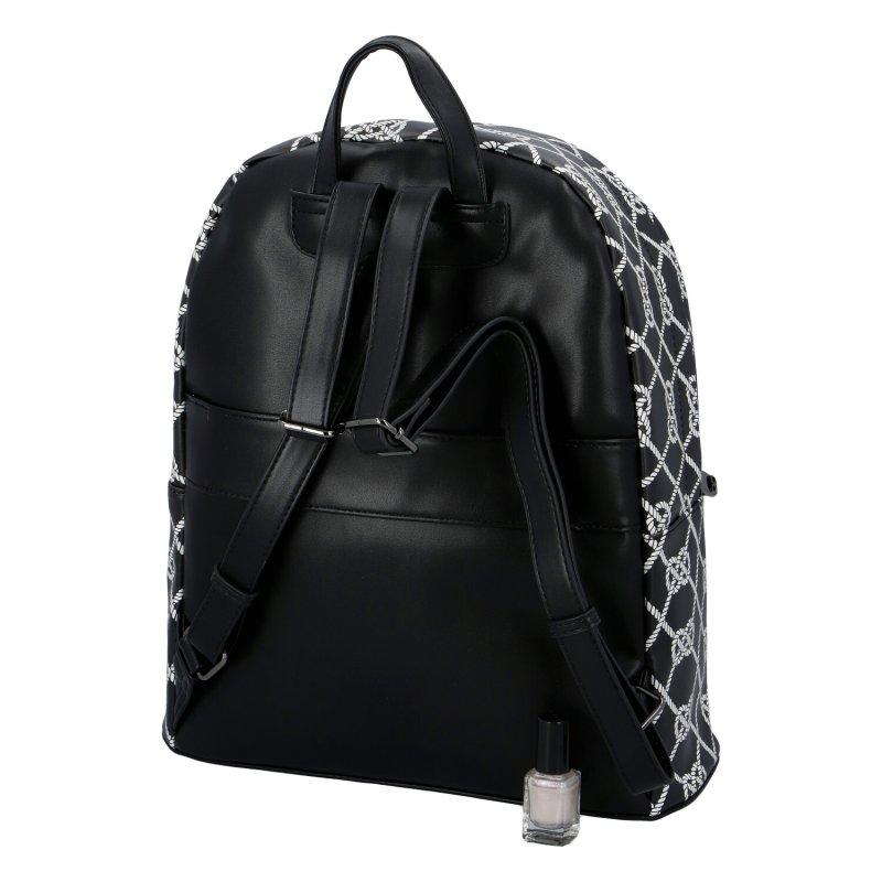 Designový koženkový batoh Nobo Simonne, černo bílý