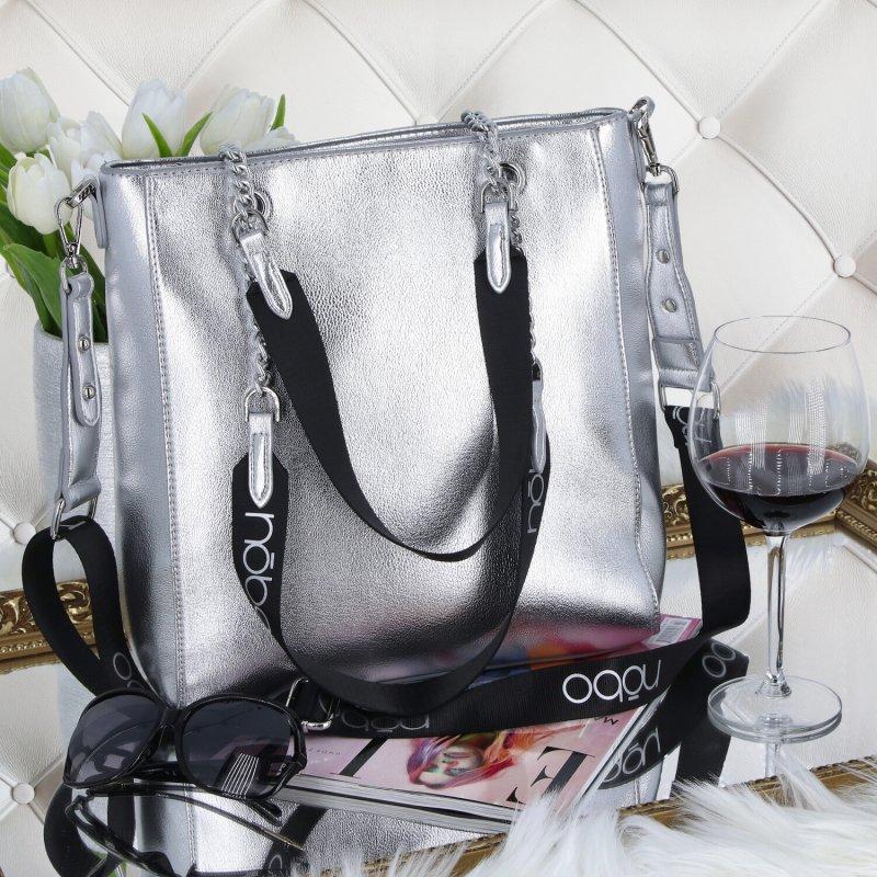 Stylová dámská kabelka Nobo Anne, stříbrná