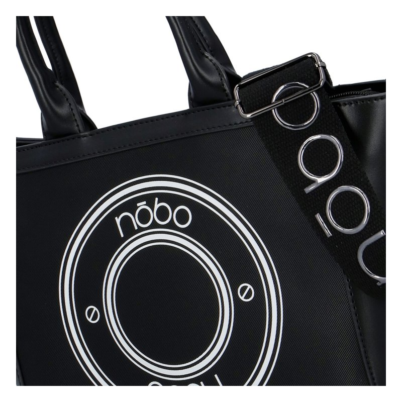 Trendová dámská koženková kabelka Nobo Moderno, černo bílá
