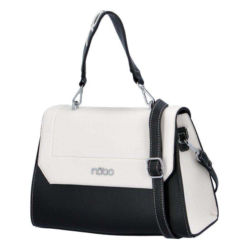 Stylová dámská koženková kabelka Nobo Isabelle, černo bílá