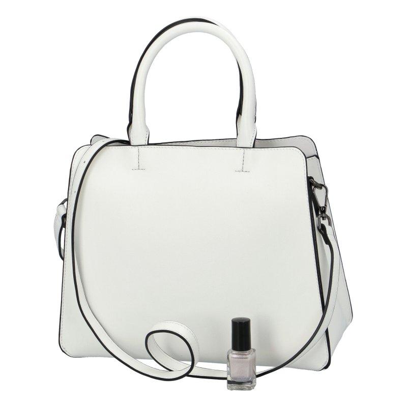 Stylová dámská koženková kabelka Nobo Being fashionable, bílá