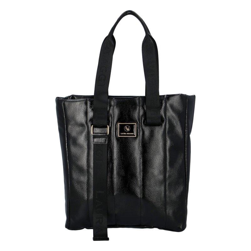 Dámská koženková kabelka LB Stylish Emma, černá