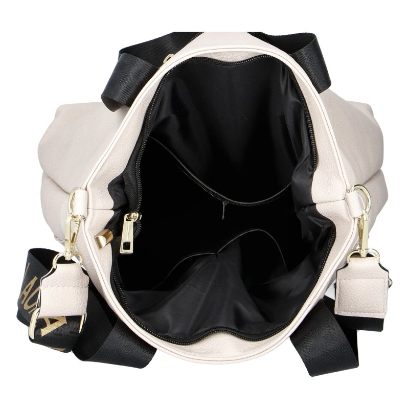 Dámská koženková kabelka LB Beige queen, béžová