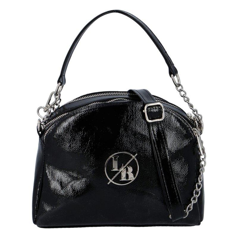 Menší dámská koženková kabelka LB Imra, černá