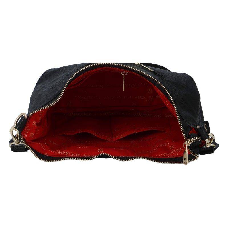 Dámská koženková kabelka MASSIMO C.Elegance, černá