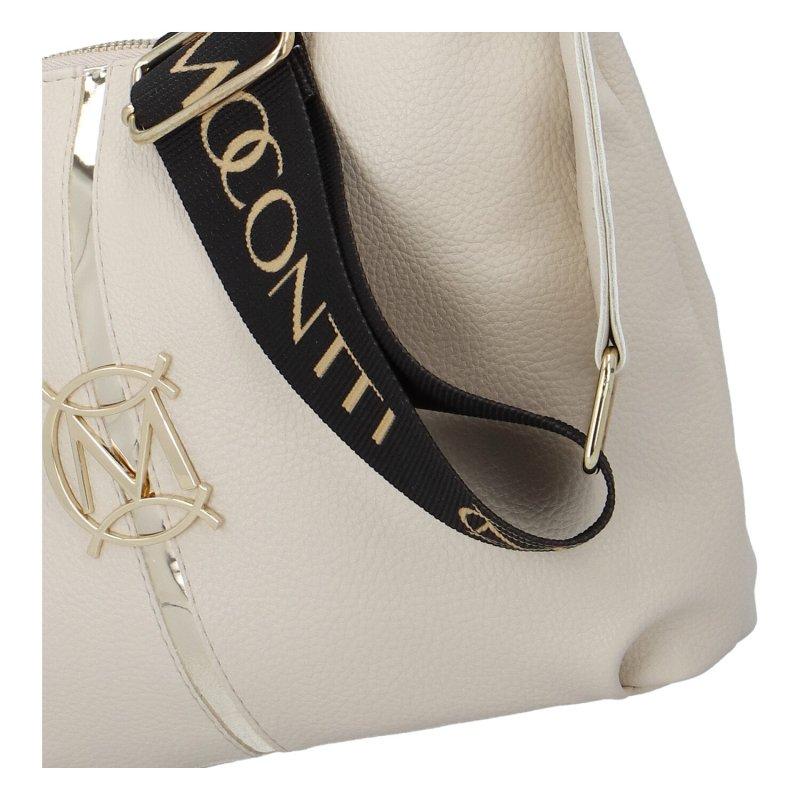 Dámská koženková kabelka MASSIMO C.Elegance, bílá