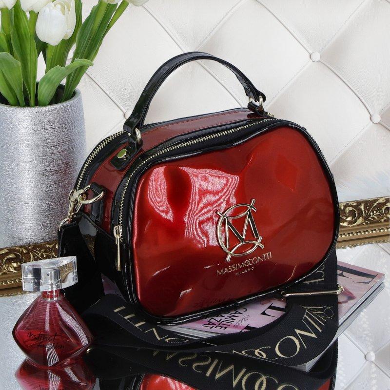 Trendová dámská kabelka MCO Luxury, červená