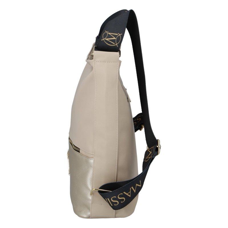 Dámský koženkový kabelko batoh MASSIMO Duo, béžový