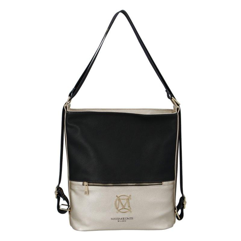 Dámský koženkový kabelko batoh MASSIMO Duo, zlato černý