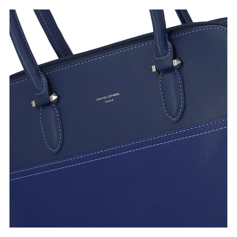 Dámská koženková kabelka Dora navy, modrá