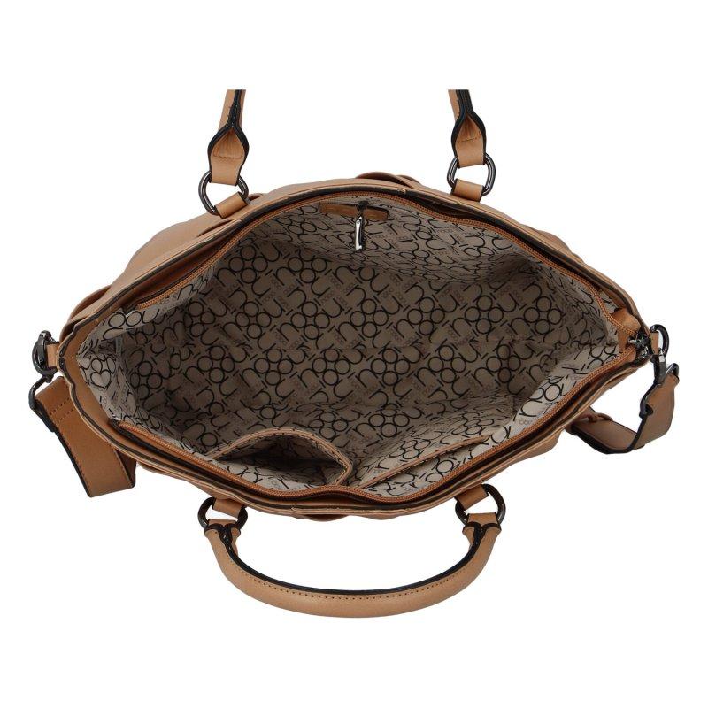 Dámská koženková kabelka NOBO Lea, koňaková