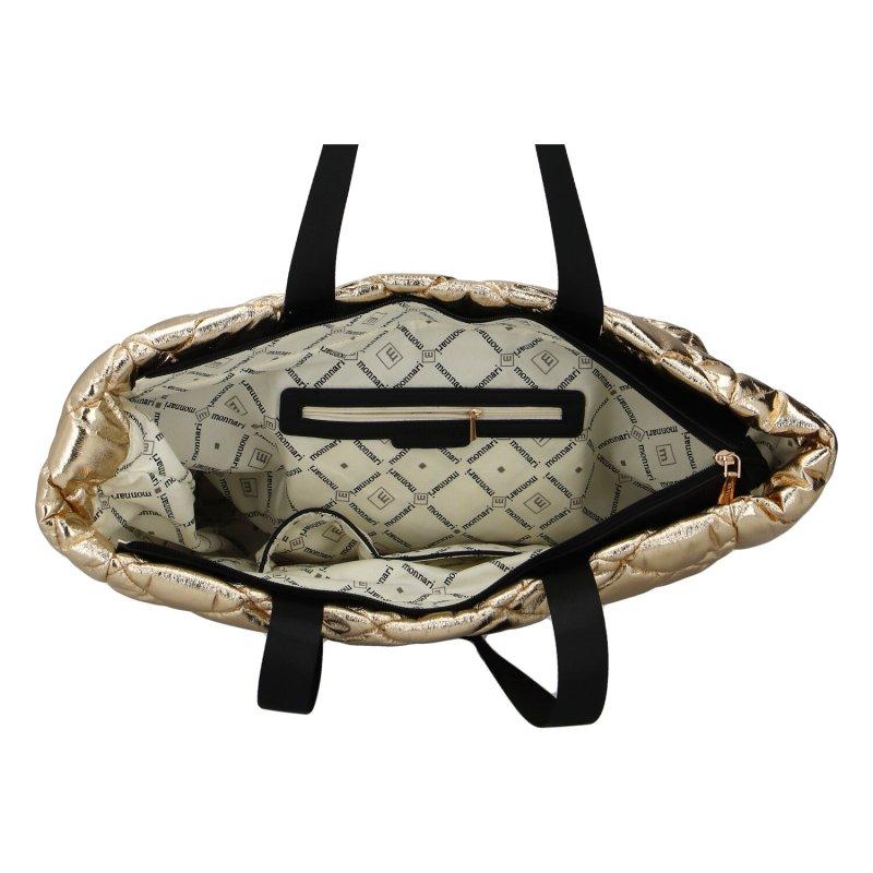 Luxusní dámská koženková kabelka MONNARI Golden star, zlatá