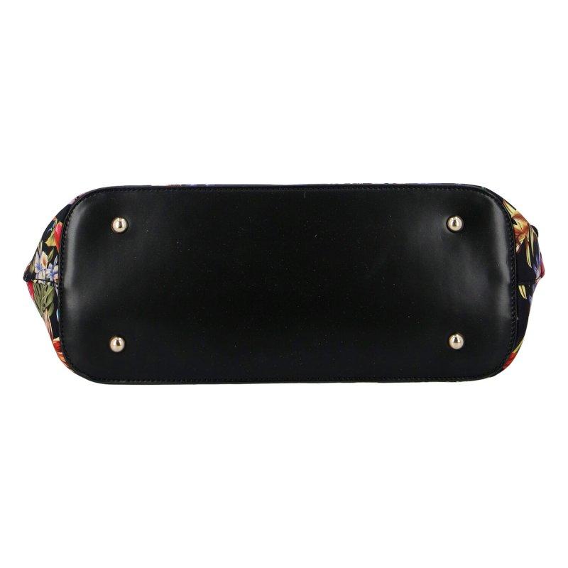 Veselá barevná dámská koženková kabelka NOBO Flora, černá