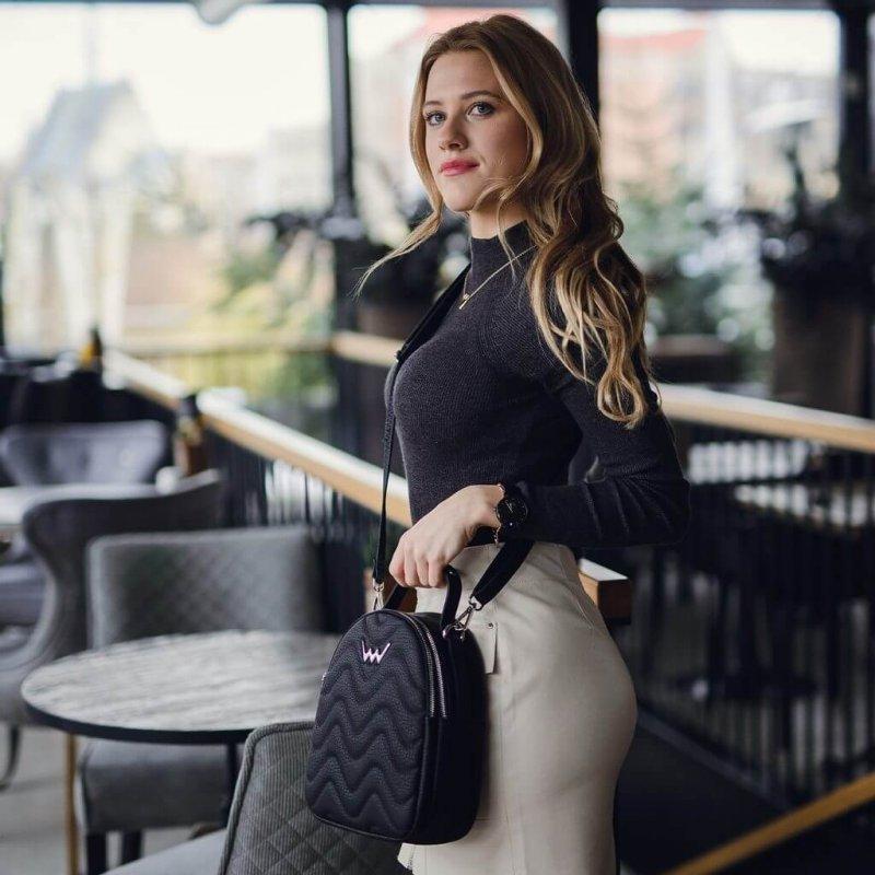 Dámský městský batoh kabelka VUCH Sasmi, černý