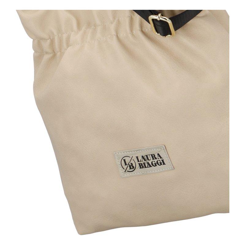 Trendová větší kabelka L.B. Hailley, béžová