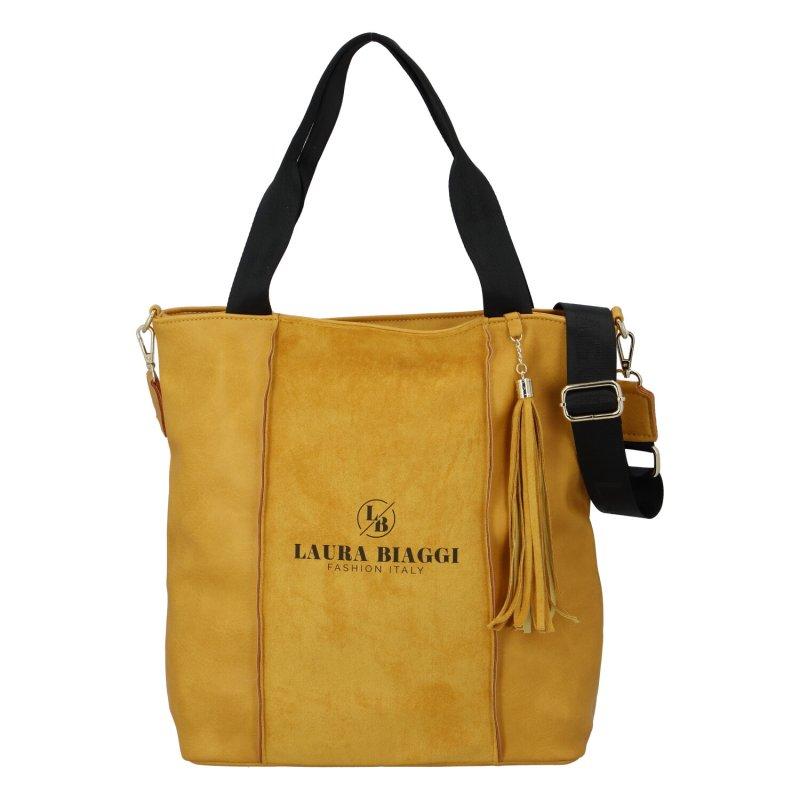 Luxusní kabelka Laura Biaggi Beauty, žlutá
