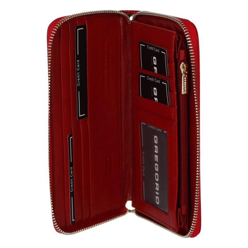 Dámská kožená lakovaná peněženka Tiana, červená
