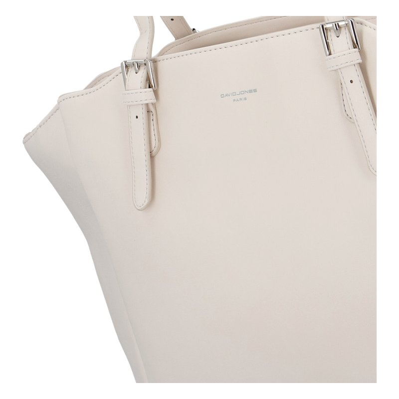 Prostorná dámská koženková kabelka Sirina, béžová