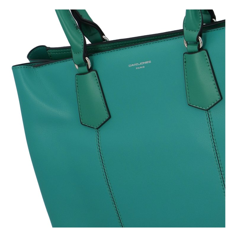 Praktická dámská koženková kabelka Simone, zelená