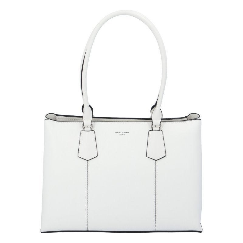 Praktická dámská koženková kabelka Simone, bílá