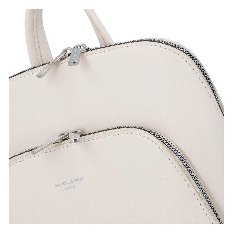 Městský módní koženkový batoh Siva, béžová