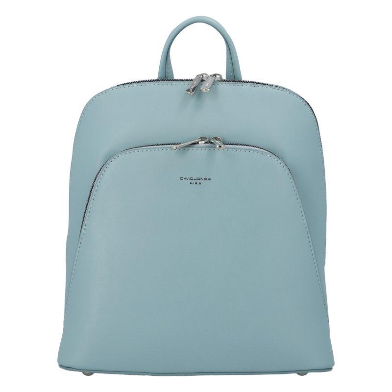 Městský módní koženkový batoh Siva, světle modrá