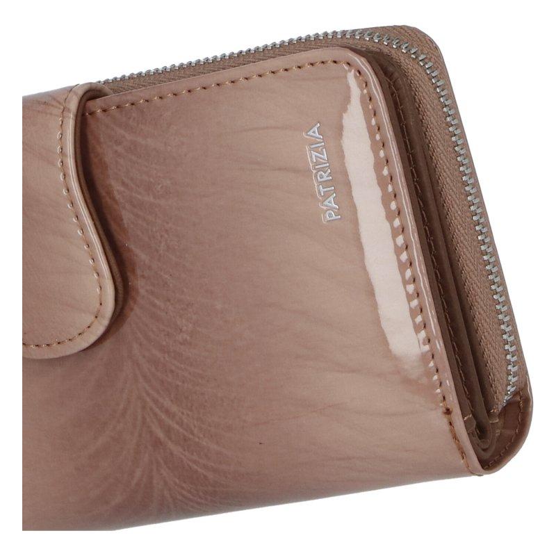 Dámská elegantní peněženka s přezkou Agnese, světle hnědá