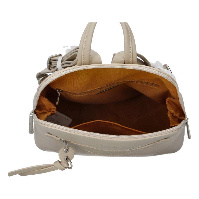 Koženkový batůžek David Jones Rosie, béžový
