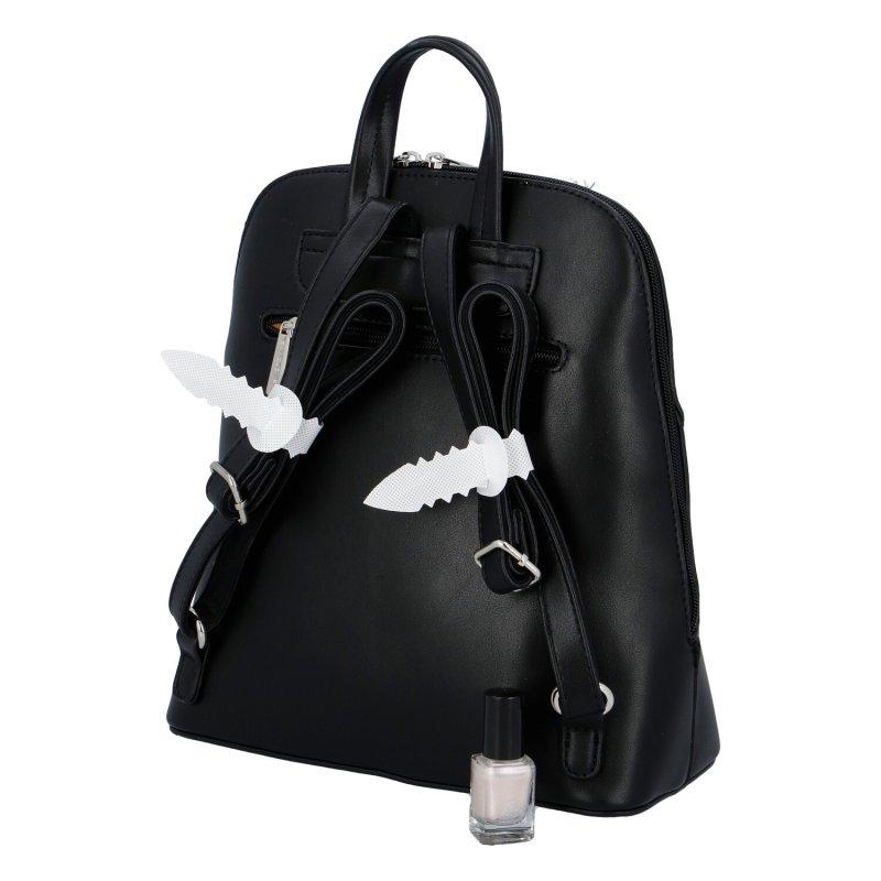 Koženkový batůžek David Jones Rosie, černý